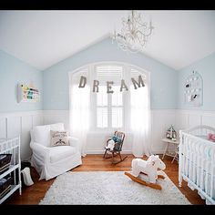 nursery wall color light blue