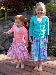 Skirts made from ill fitting dresses, at diysisters.com