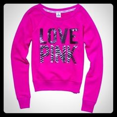 Selling this VS PINK BLING ZEBRA SEQUIN PULLOVER SWEATSHIRT S in my Poshmark closet! My username is: cmccullough9. #shopmycloset #poshmark #fashion #shopping #style #forsale #PINK Victoria's Secret #Sweaters