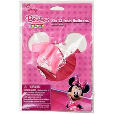 Minnie Mouse Bow-Tique 12 in. Balloons, 6 count, Party Supplies