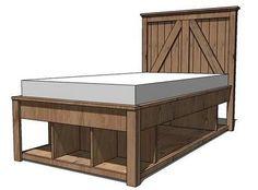 brookstone storage bed