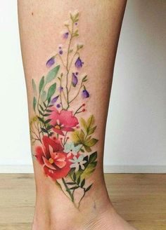 Love that there's no lines, if I do color tattoo this is what I wabt