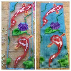 Koi pond perler beads by _karmaskreations_