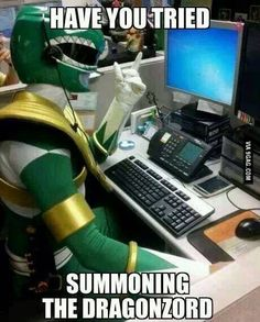 Power Rangers Tech Support I just want to know the story behind this photo. Power Rangers Funny, Go Go Power Rangers, Best Memes, Funny Memes, Jokes, Hilarious, Stupid Funny, Funny Cartoons, Funny Videos