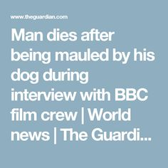 Man dies after being mauled by his dog during interview with BBC film crew | World news | The Guardian