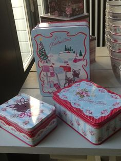 GreenGate Tin boxes Bambi. New GreenGate collection arrived at www.originated-shop.nl