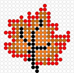 Autumn leaf hama perler beads Melty Bead Patterns, Pearler Bead Patterns, Perler Patterns, Beading Patterns, Perler Bead Designs, Fuse Beads, Perler Beads, Beading For Kids, Halloween Beads