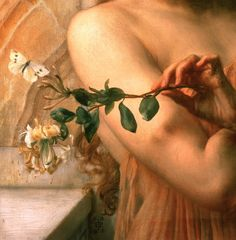 """""""Psyche in the Temple of Love"""" (1882) (detail) by Sir Edward John Poynter (1836-1919)."""