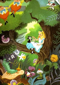 Alice in Wonderland illustrated by Al Dempster (1973)