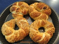 Here comes our Simit, sesame encrusted bread rings!