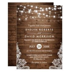 Rustic Country Wood Twinkle Lights Lace Wedding Invitation for $1.90 #PrintTemplate #GraphicDesign #invitation #WeddingInvitation #wedding #Zazzle #InvitationCards #design #InvitationTemplates #InvitationDesign #PrintDesign #WeddingGraphics #marriage #graphic #WeddingDesign #WeddingStationery #MarriageInvitation #GraphicDesign #print #TemplateDesign