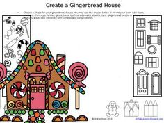 Early Finishers - Create a Gingerbread House....great as a Christmas time fill in activity for early finishers.