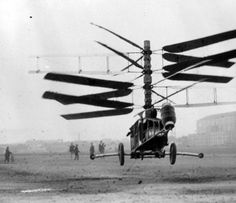 the Pescara Number 3 helicopter, 1923 (via)    (see also)