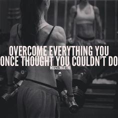 overcome!