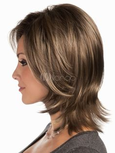 Pretty Pale Blonde - 60 Layered Bob Styles: Modern Haircuts with Layers for Any Occasion - The Trending Hairstyle Medium Length Hair With Layers, Medium Hair Cuts, Short Hair Cuts, Medium Hair Styles, Short Hair Styles, Modern Shag Haircut, Modern Haircuts, Layered Haircuts, Brunette Hair Cuts