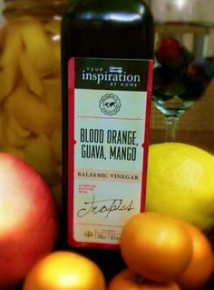 OMG!!! Blood Orange, Guava, Mango Balsamic Vinegar.....There is no wonder that this is YIAH's top selling product, Have you tried it in soda water or proseco or even vodka. Divine! Try rimming the glass with YIAH Sweet Orange Sugar for that extra 'oh my'