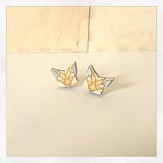Fox earrings Manemis https://www.facebook.com/manemis