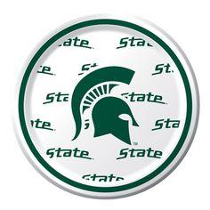 Michigan State Paper Dessert Plates - Go Spartans!