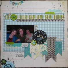 Memorable Seasons Gallery - Girls Night - Mixed Media challenge