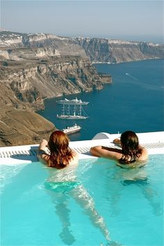 Santorini, Greece. I'd give anything to be there right now!