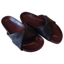 CÉLINE Black Leather Sandals - Vestiari - Buy and sell luxury pre owned fashion