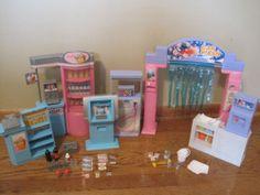 Barbie Mini Mart Convenience Store Car Wash ATM Gas Pump Food Icee Lot Play Set | eBay