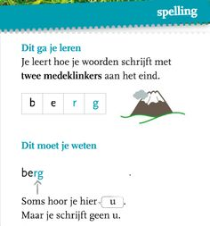 Groep 5-6: spelling gr 4 thema 1 week 3