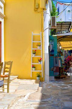 Street in Naxos, Greece