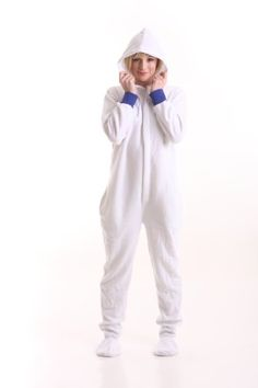 Funzee Footed Pajamas Hooded Jumpsuit White Adult Onesie ... https://www.amazon.com/dp/B00GNBOO4S/ref=cm_sw_r_pi_dp_x_.yZXyb2RVQJSP