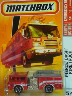 Matchbox Emergency Series Pierce Dash Fire Truck Red Detailed Diecast #57 Scale 1/64 Collector by Mattel. $0.01. Detailed Diecast. 1:64 Scale. Matchbox Emergency Series Pierce Dash Fire Truck Red Detailed Diecast #57 Scale 1/64 Collector
