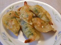 Yachae Saewoo Mandu (Shrimp & Vegetable Dumplings)  야채 새우 만두