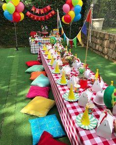 Picnic Theme, Picnic Birthday, Outdoor Birthday, Carnival Birthday, Birthday Parties, Kids Birthday Party Ideas, Picnic Party Decorations, Birthday Decorations, Party Themes