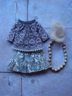 Spirit of '72 Boho Beads set for Blythe-Blue par moshimoshistudio