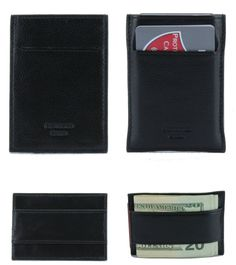 Do you want to protect your identity?  If you do then check out this RFID Blocking Genuine Top Grade Pebble Leather Wallet Money Clip.  Minimalist Wallets has 2 Card Slots. One on front and one on top.  Wallet tested with 10 cards and 20 bills  Size: 3 7/8 x 2 3/4 x 1/8 inches  Color: Black  Protected Cards Embossed on the Front of Wallet  Wallet will come with a Protected Cards Dust Bag Rfid Blocking Wallet, Money Clip Wallet, Minimalist Wallet, Pebbled Leather, Leather Wallet, Tired, Dust Bag, Identity, Gadgets