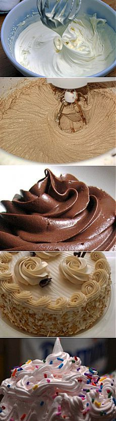 Крем для торта и десерта - 7 видов
