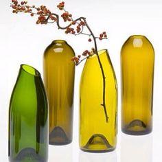 Floreros de botellas de vino