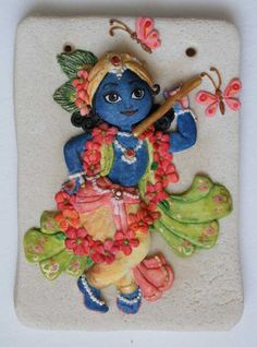 Salt dough Krishna II by on DeviantArt krishna …. the site has beautiful krishna's salt dough stuff ….
