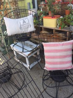 Set Of 3 Wire MCM Homecrest Patio Chairs By PiccadillyPrairie