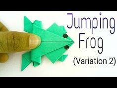 "How to make a paper ""Traditional Jumping Frog 🐸"" - (Variation 2) - Action Fun Origami tutorial. - YouTube"