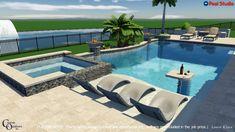 amazing minimalist pool decoration ideas for your backyard 30 ~ mantulgan.me Pool Villen Small Backyard Patio, Backyard Patio Designs, Outdoor Pool, Backyard Ideas, Infinity Pool Backyard, Infinity Edge Pool, Small Backyard Design, Patio Ideas, Swimming Pools Backyard