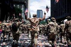 U.S. troops returning home from Operation Desert Storm, 1991