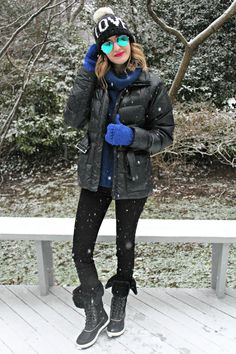 how to make a puffy coat look flattering - great look for cold-weather  travel 847111395