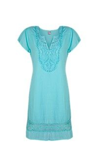 BUILT UP EMBROIDERED DRESS Short Sleeve Dresses, Dresses With Sleeves, Pretty Dresses, Tunic Tops, Summer, Women, Fashion, Gowns With Sleeves, Moda