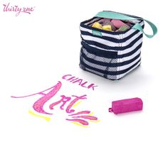Chalk it up! Chalk art is so much 'funner' when you have a cute container to hold your chalk in! :) Thirty-One's Little's Carry-All Caddy is that perfect cute container! Thirty One Uses, My Thirty One, Thirty One Party, Thirty One Gifts, Chalk It Up, Chalk Art, Thirty One Organization, Organization Ideas, Thirty One Business