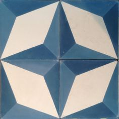 These can be arranged in various patterns, LOVE! Nadia Blue Encaustic Tile