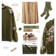 """Study Session: Library Chic"" by meyli-meyli ❤ liked on Polyvore featuring Robert Rodriguez, Marni, Hansel from Basel, John Lewis, Laura Mercier and librarychic"
