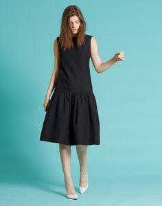 LE CIEL BLEU ドットジャガードドレス