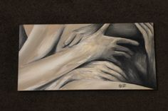 "'Love and intimacy' series, 12"" x 24"" acrylic on canvas"
