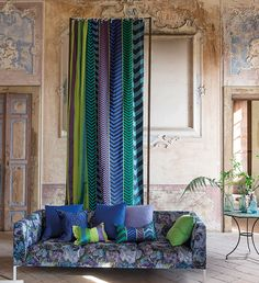 Tricia Guild Talks Autumn part 1. Designers Guild Indupala and Boratti fabric collections