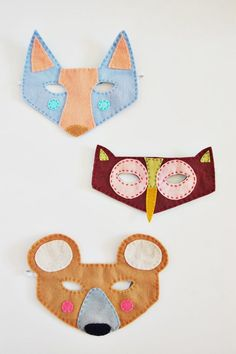 Try out DIY felt masks this Halloween instead of the usual store bought ones.